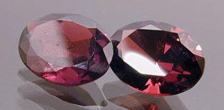 Dwa rubiny o dobrej i złej jakości