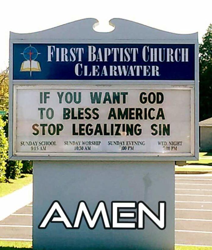 Znak kościoła baptystów